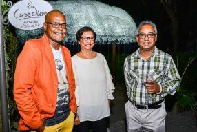 Dominique Arsenius, chef de cuisine, Niny Mootoo-Rajah, comptable à Parure Ltd, et Harry Rajah, directeur de Grand Travel.