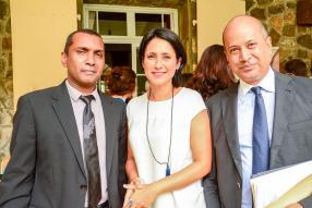 Renganaden Padayachy, économiste à la Mauritius Chamber of Commerce and Industry (MCCI), Shirin Gunny, Brand Manager de Made in Moris, et Azim Currimjee, représentant de la MCCI.