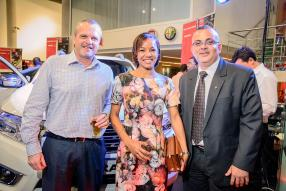 Vivian Rouillon, Head of Sales d'ABC Motors, Vanessa Degeilh et Frederic Degeilh, Operations Manager de Brinks.