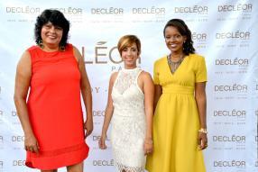 Corinne Vzellin, Spa Manager du Hilton, Martine Drouin du département Sales & Marketingde BrandActiv et Fanta Diawara, Regional Manager de L'Oréal.