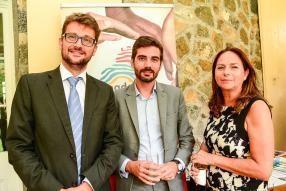 Mathieu Discour, directeur de l'Agence française de développement à Maurice, Grégory Martin, chargé de mission à Région Réunion, et Françoise de Palmas de l'Association des Industriels réunionnais.
