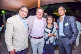 David White, Managing Director, White & White Associates, Raoul Maurel, Managing Director, Tamarina Golf & Spa, Françoise White, Managing Partner, White & White Associates, et Bryan Gujjalu, directeur, MIoD.