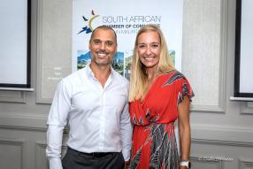 Samer Kassem et Bronwyn Knight, CEO du Grit Real Estate Income Group.