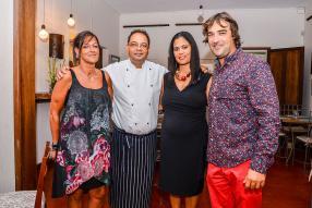 Alexandrine Maigrot, partenaire de Carpe Diem, Jocelyn Mallet et son épouse Agnès Mallet, gérant et partenaire de Carpe Diem, et Denis Vinson.