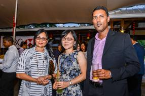 Shameema Moobeebux, Vice-President Business Development, Monique Li Wan Po et Dinesh Seeboruth, Head of  Sales Cash Management, tous de la HSBC.