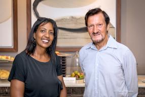 Misrak Menouta, consultant à MWC, et Graeme Robertson, Chairman d'Intrasia Group.