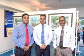 Nitish Benimadhu, Head of Investments d'Anglo-Mauritius Investment Managers, Sanjay Bhugaloo, Pensions Manager à l'Anglo-Mauritius Assurance Society Ltd, et Clency Appadoo, Manager Documentation & Processing  Department.