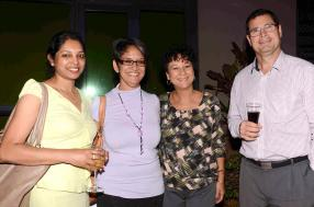 Manda Vengatasamy, Travel Consultant, Catherine Adolphe, Travel Supervisor, Marlys Ithier, Manager Travel Department, toutes de Concorde Travel, et André Nairac, General Manager d'Harel Mallac Travel.