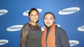 Curseline Pillay et Mary Kioon, toutes deux de Samsung.