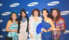 Nadine Wong, directrice de Wong Chap Lan, Pamela Bhuruth, Marketing and Retail Manager de Samsung, Li Ken Li, Head of Finance de CKLB, Danielle Li, directrice de Sheridan Supermarket, et Dorine Lam, directrice de Homemart.