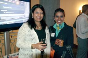 Sneha Shah, Head of Financial Risk chez Thomson Reuters, et Beeharry Bibi Adiilah.