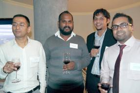 Vinay Pandey, Trader chez Essay Energy Overseas Ltd, Kugan Parapen, Fund Manager chez MCB Investment Management, Satish Lutchmeenaraidoo, Investment Analyst chez MCB Investment Management, et Tirish Kannee, Market Making Dealer à la Barclays Bank.