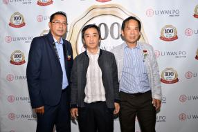 Jean Claude Bhugon, Sales Representative, Eric Chan, Executive Trading Director, et Alain Lee, Business Development Manager, tous les trois de Li Wan Po & Co. Ltd.