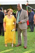 Haydée Bastien Silva en compagnie d'Harry Alan Gaspard, retraités.