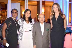 Ghislaine Tchibozo, General Manger de Multi Contact, Uma Jokhun, Marketing Manager de MC Vision, Bashir Currimjee, Chairman de Currimjee Jeewanjee Company Limited, et Bénédicte Chenuet, General Manager de MC Vision.