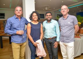 Franck Fetick d'Ewattch, Aurélie et Michael Apaya qui est de Business Mauritius, et Jean-Michel Quevauvilliers d'ETMS.