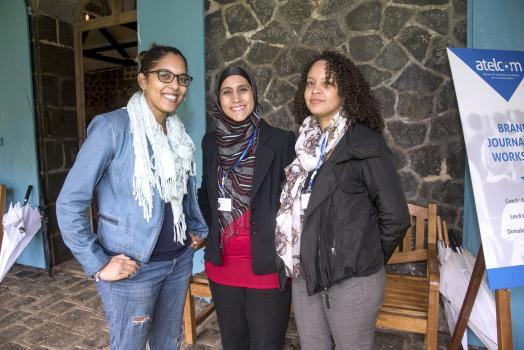 Melissa Ramsay, chef de pub chez Twogether We Stand Ltd, Saffiyah Edoo, Senior Public Relations Executive chez Advantedge PR, et Sophie Constant, rédactrice/conceptrice chez Twogether We Stand Ltd.