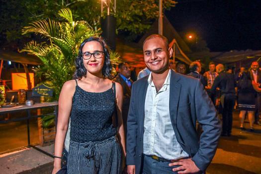 SamanthaBatterie, Legal Officer, et Vikish Dabeedyal, Designer, tous deux du groupe Trimetys.