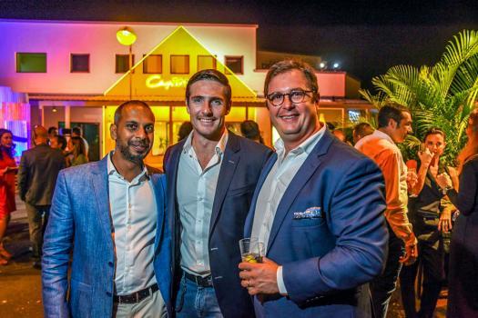 Ashvin Seeboo, CEO du Pôle Immobilier de Trimetys, Gordon Mackenzie-Kennedy, Security Consultant – Director chez Umbra Risk Ltd, et Ludovic Lagesse, CEO de Trimetys Hotels.