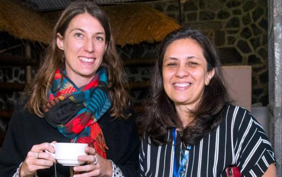 Celine Planel, Managing Director chez Beyond Communications, et Ariane de l'Estrac, Manager et Public Relation Services chez Maurice Publicité Ogilvy & Mather.