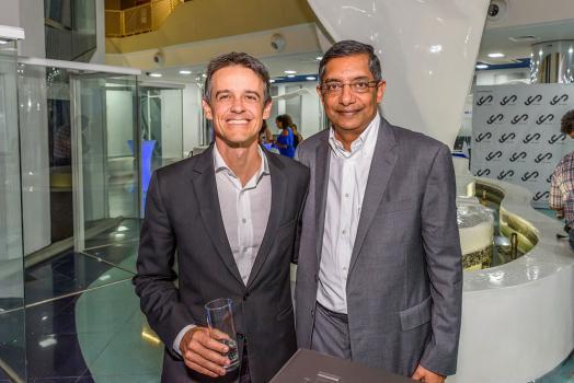 Louis Rivalland, Group Chief Executive de la Swan, et Nirvan Veerasamy, cofondateur et directeur du YU Lounge.