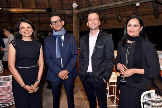 Hajrah Sakauloo, Head of International à la HSBC,avec Laurent Nurbel et Henri Claude Boyer, respectivement Chief Executive Officer et Chief Financial Officer chez Bamyris Motors, et Sameema Nobeebux, Relationship Manager à la HSBC.