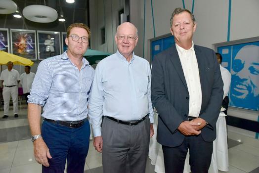 Didier Merle, Head of Private Banking, MCB, François de Grivel, entrepreneur, et Paul Corson, Head of Corporate, MCB.