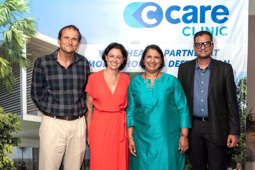 Vincent Rogers, Chairman du groupe Mont Choisy, Hélène Echevin, Executive Chairperson du groupe C-Care, Jyoti Jeetun, CEO du groupe Mont Choisy, et Thomas Mathew, COO de Wellkin Hospital.