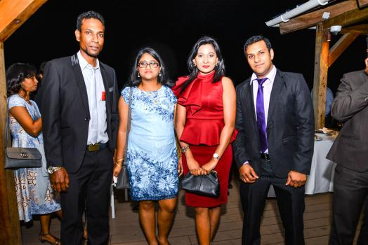 Thierry Chellapanaick, Priscilla Ramsaha, Nishi Ramdeen et Abhishek Gokool, tous des membres de l'ACCA.