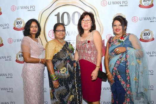 Neema Teeluckdhary-Ramdoyal, Account Officer, Marie Josée Gunnoo, secrétaire administrative, Doris Cha Sow King, Account Executive, et Brinda Gurriah, Assistant Operation Supervisor, toutes les quatre de Li Wan Po & Co. Ltd.