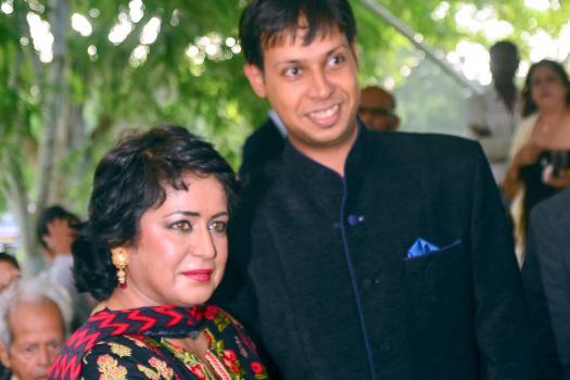 La présidente de la République, Ameenah Gurib-Fakim, en compagnie de Ridwan Dhuny, comptable.
