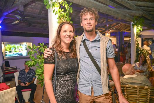 Blandine Balmer et Yoann Michenot ont tenu à être présents à cette inauguration remplie d'émotions.